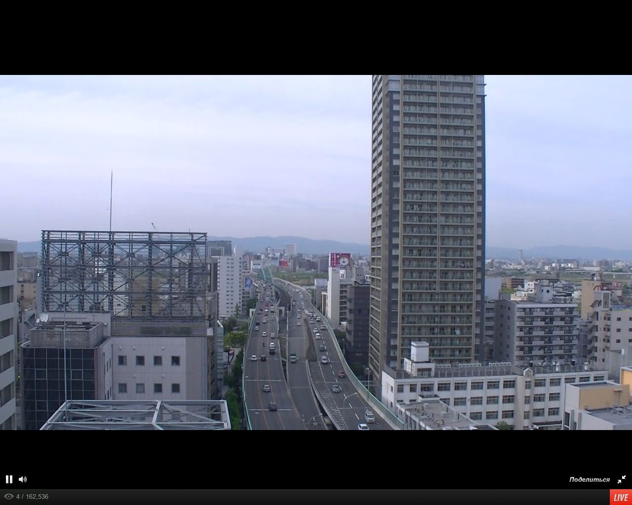 Midosuji Boulevard is the primary main street in central Osaka_webcam