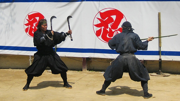 Ninja show at the Iga Ninja Museum